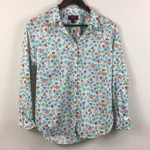 Liberty For J Crew Floral Cotton Button Up Shirt 8